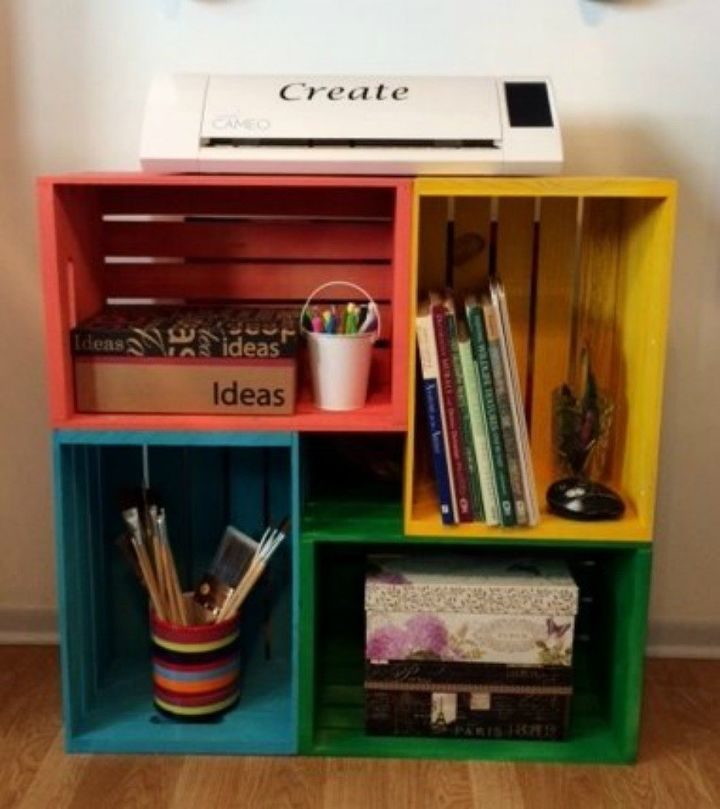 s 30 reasons we can t stop buying michaels storage crates, They make fun easy and colorful furniture