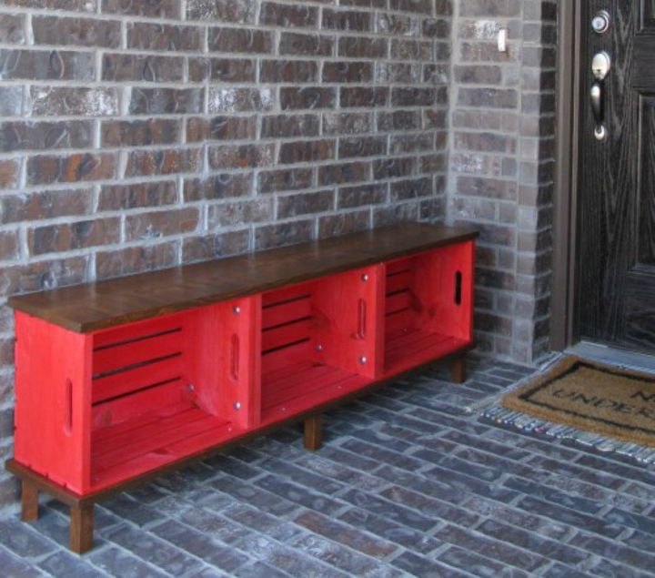s 30 reasons we can t stop buying michaels storage crates, They can easily double as porch seating
