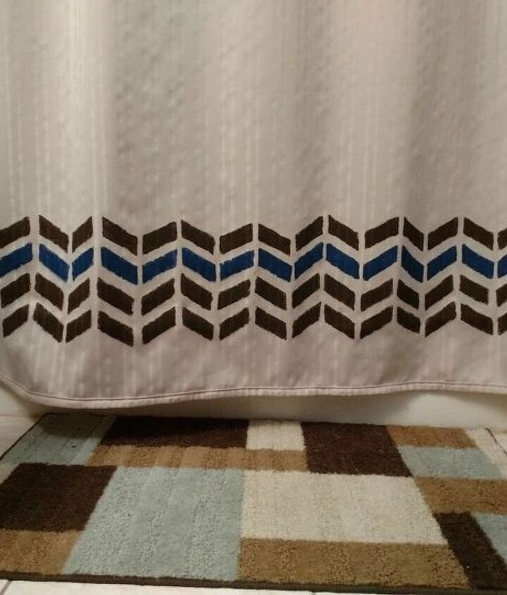 plain shower curtain to decorative shower curtain