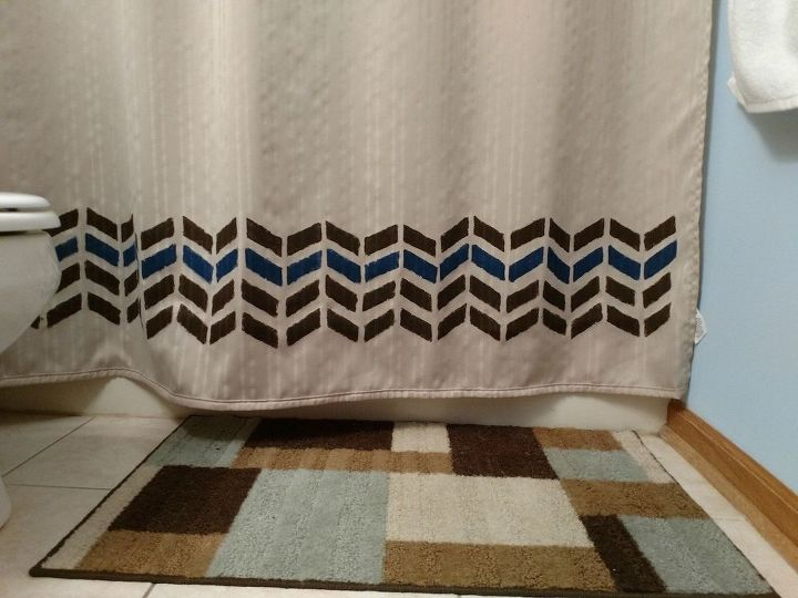 plain shower curtain to decorative shower curtain