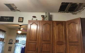q how can i repair ceiling in kitchen with vintage look on a budget