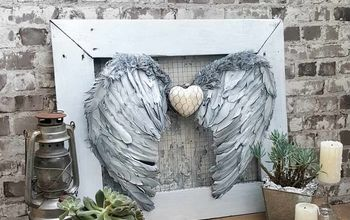 stunning and easy angel wings wall decor