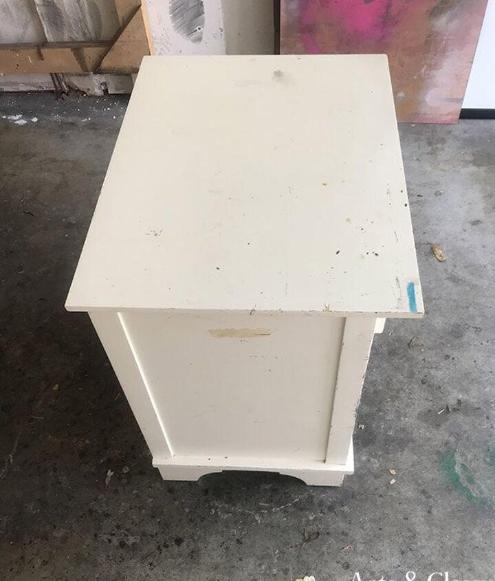 curbside find nightstand poetic diy furniture makeover
