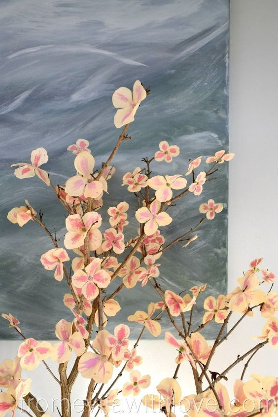 quick and easy and cheap way to create cherry blossom tree