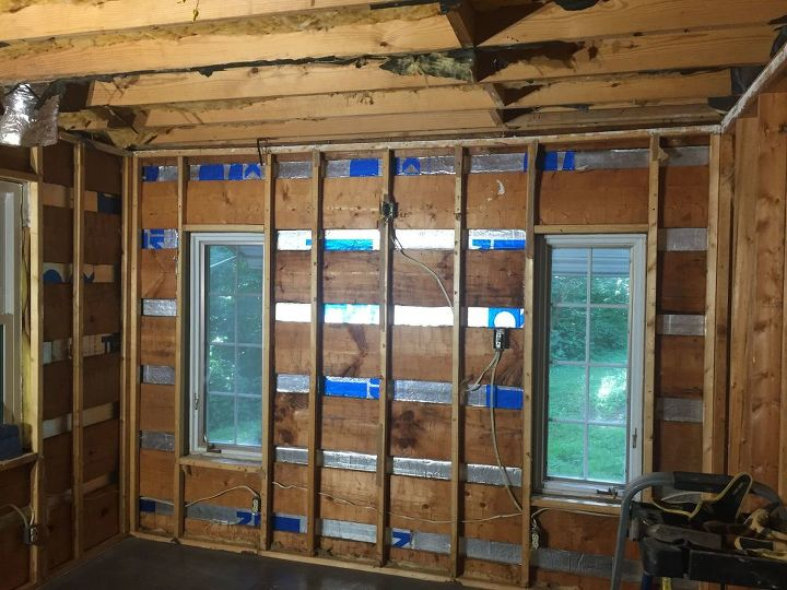 q what is the best way to finish interior log walls