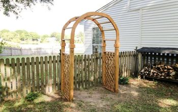 HOW TO BUILD A GARDEN ARBOR ARCH