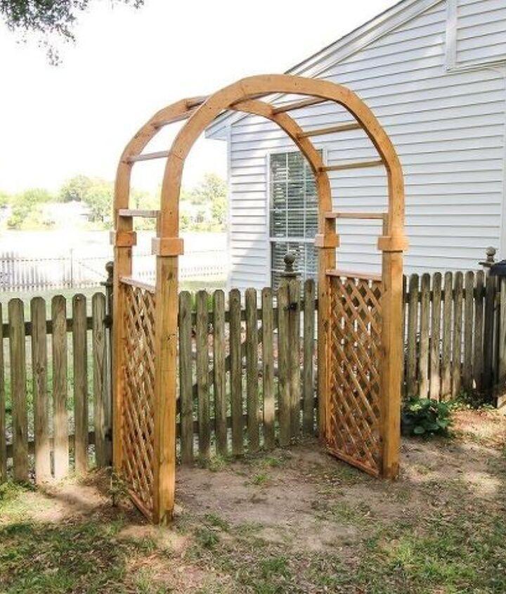 how to build a garden arbor arch