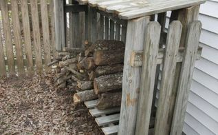 how to build a wood shed from old fence