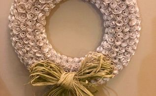 paper chase wreath