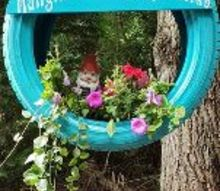 hangin with my gnomies tire swing planter