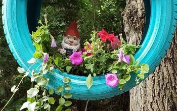 Hangin' With My Gnomies Tire Swing Planter