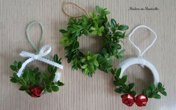 mini wreath christmas ornaments
