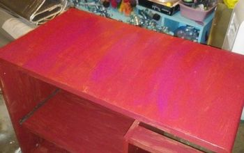 Particle Board Desk Makeover