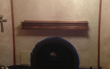 painting my fire place and staining the bricks