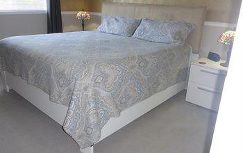 particleboard bed frame makeover