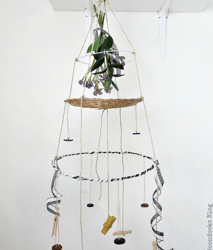 how i made mobile art using wire hangers from the cleaners
