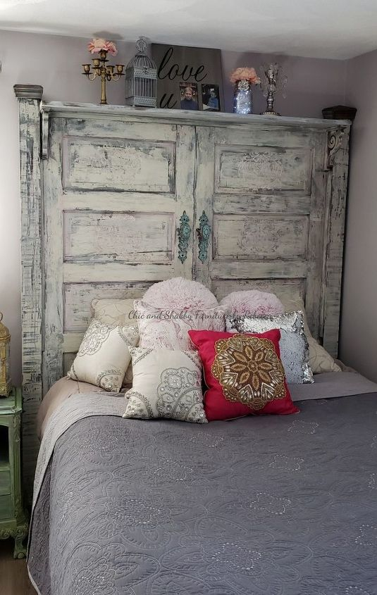 diy chippy shabby chic headboard
