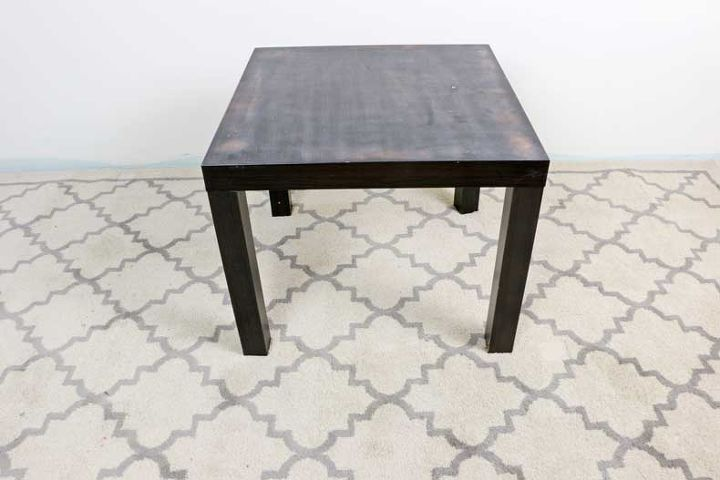 ikea lack table hack using an inlay stencil