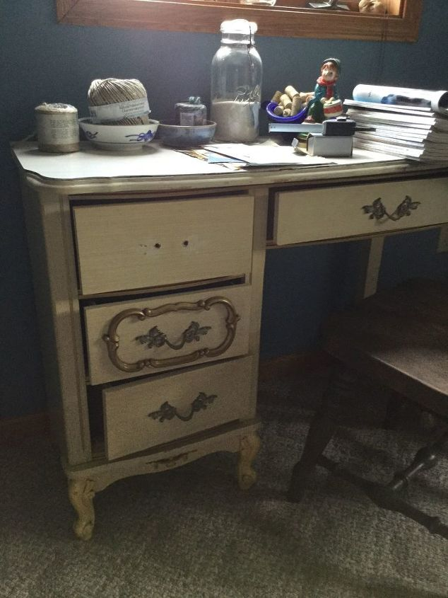 Q Looking For Ideas On What To Do With This White French Provincial Desk