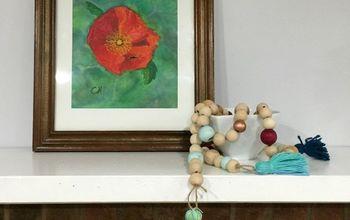 boho wooden bead garland