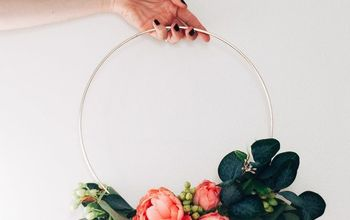 Floral Hoop Wreath - Easy and Inexpensive DIY