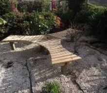 easy ish garden seat bench tree protector