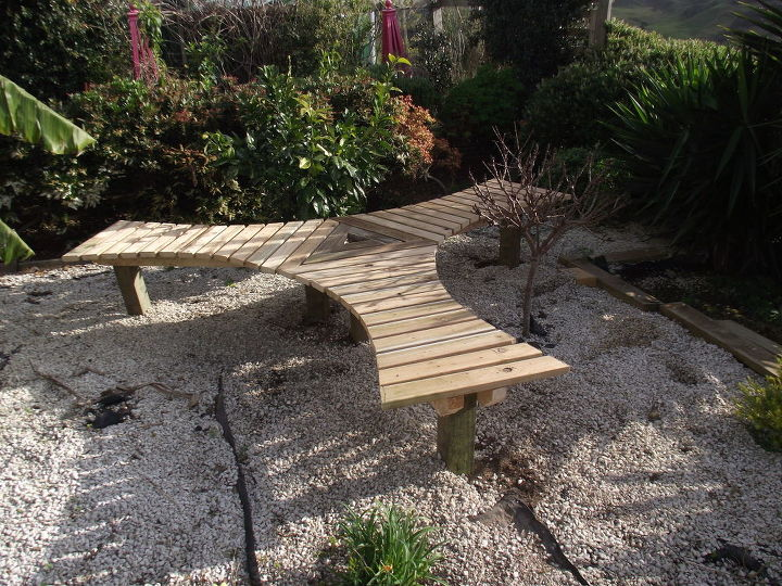 easy ish garden seat bench tree protector