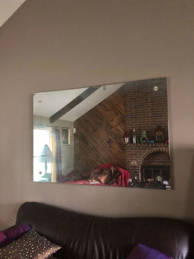 q any ideas on converting a very large wall mirror without a frame into