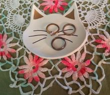polymer clay cat ring holder