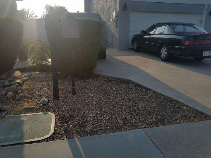 q how do i make my mailbox area pretty