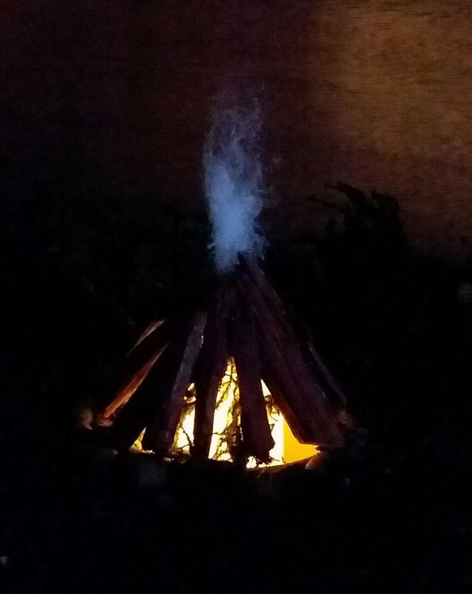 semi permanent indoor fairy gnome garden bonfire and bridge