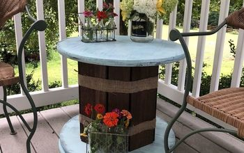 My Faux Spool Table With Hidden Storage - Gardener Version
