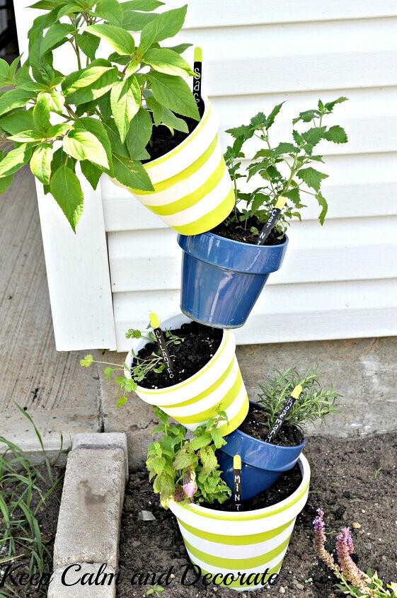 s 16 ways to showcase your herb garden, Topsy Turvy Tutorial
