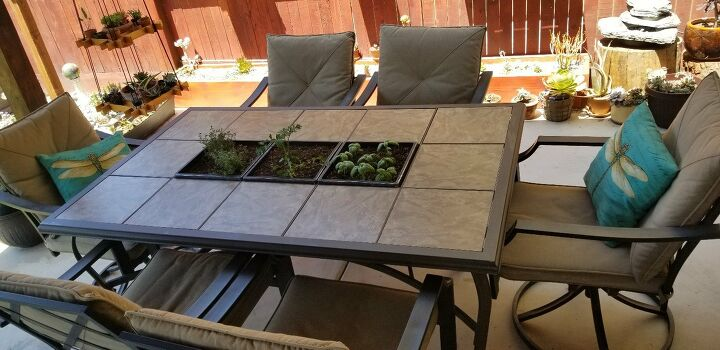 s 16 ways to showcase your herb garden, Transplanted Soil to Patio Table