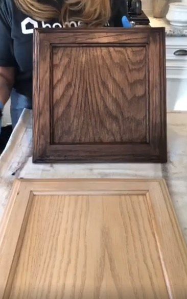 outdated to outstanding golden oak cabinets