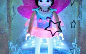 playmobil fairy led table lamp in glittering globe and stars