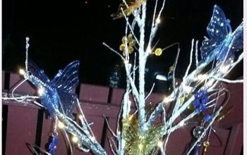 pottery barn knock off lighted butterfly tree