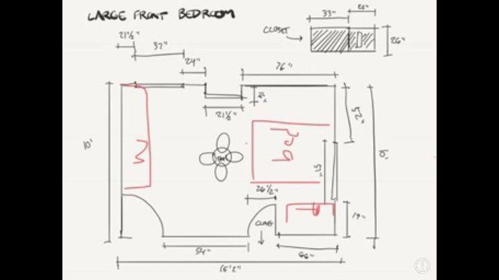 q how do i arrange an oddly shaped bedroom