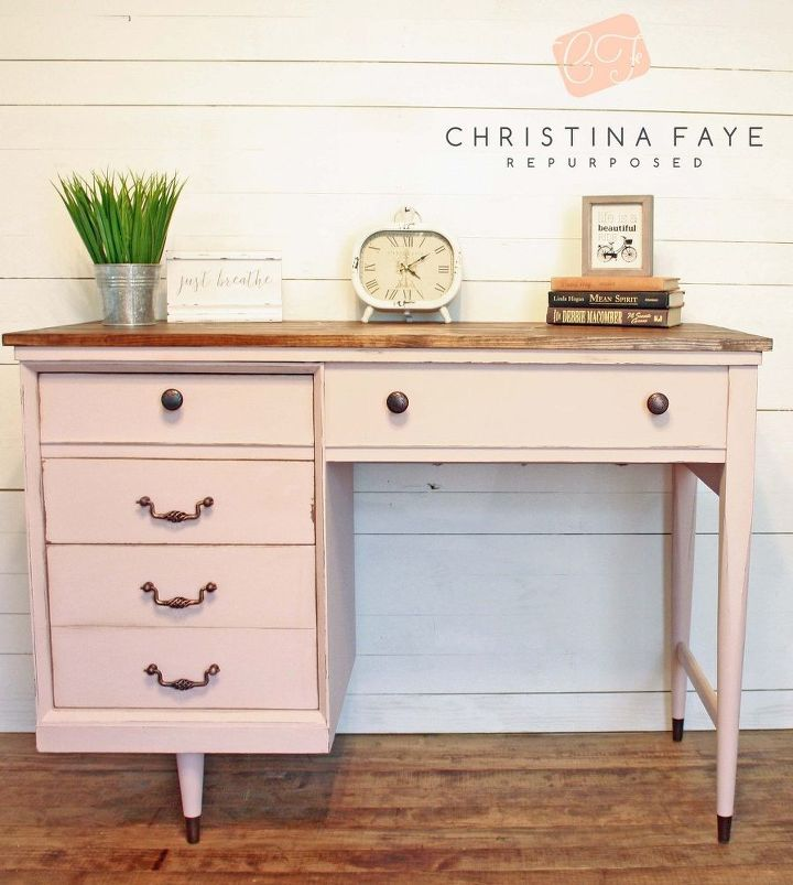 Vintage Sewing Cabinet Gets Shabby Chic Makeover