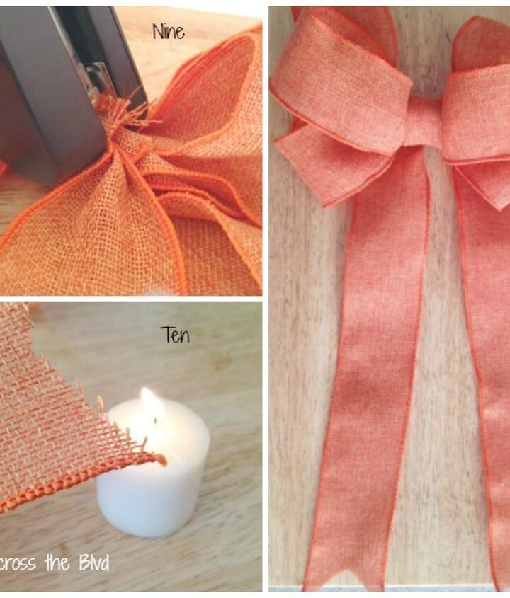 how to make a simple wired ribbon bow for wreaths