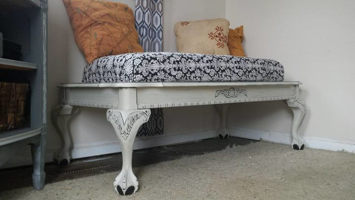 s 30 amazing furniture flips you have to see to believe, Turn a coffee table into a comfy bench