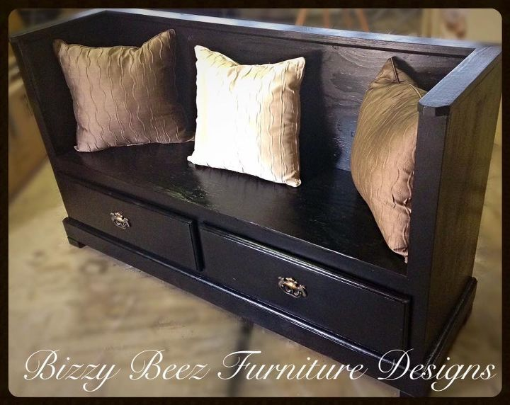s 30 amazing furniture flips you have to see to believe, Turn a dresser into a bench for your entryway