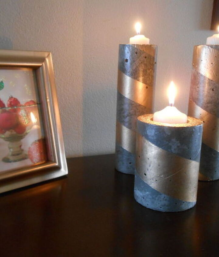 s 20 easy concrete projects that anyone can make, DIY Concrete Candle Holders