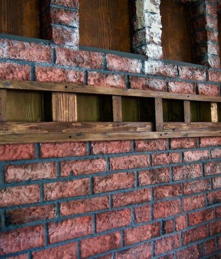 paper clay brick wall