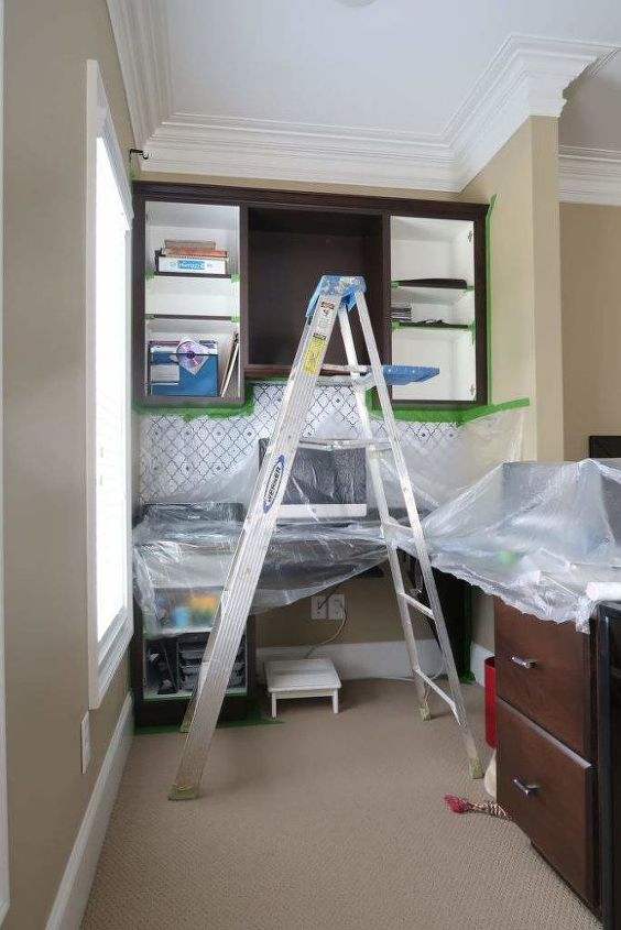 paint stained cabinets without sanding