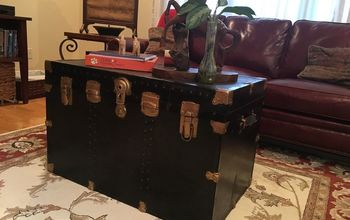 steamer trunk turned coffee table