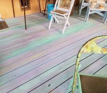 deck makeover mermaid style