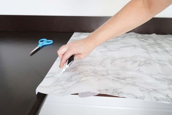how to install marble contact paper counters
