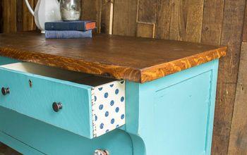 Furniture Repair: A Pretty Aqua Chest With Polka Dot Drawers!