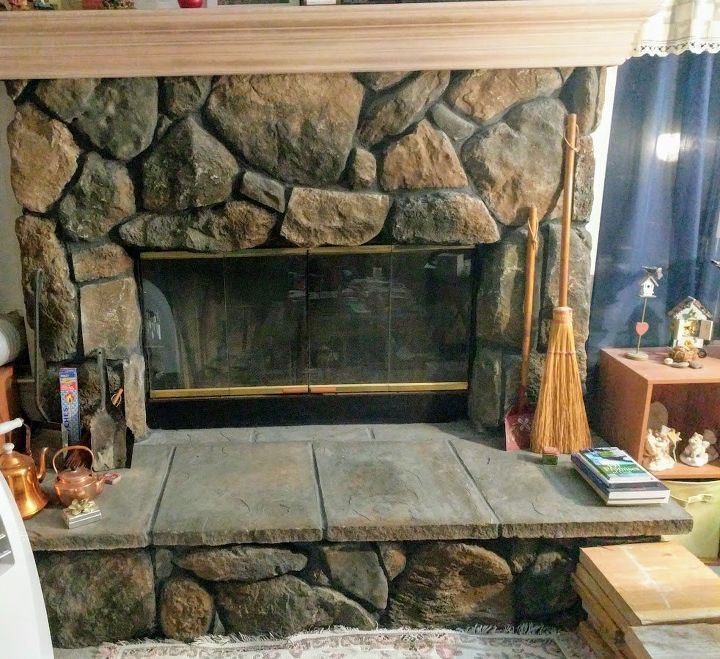 Q How To Update This Stone Fireplace